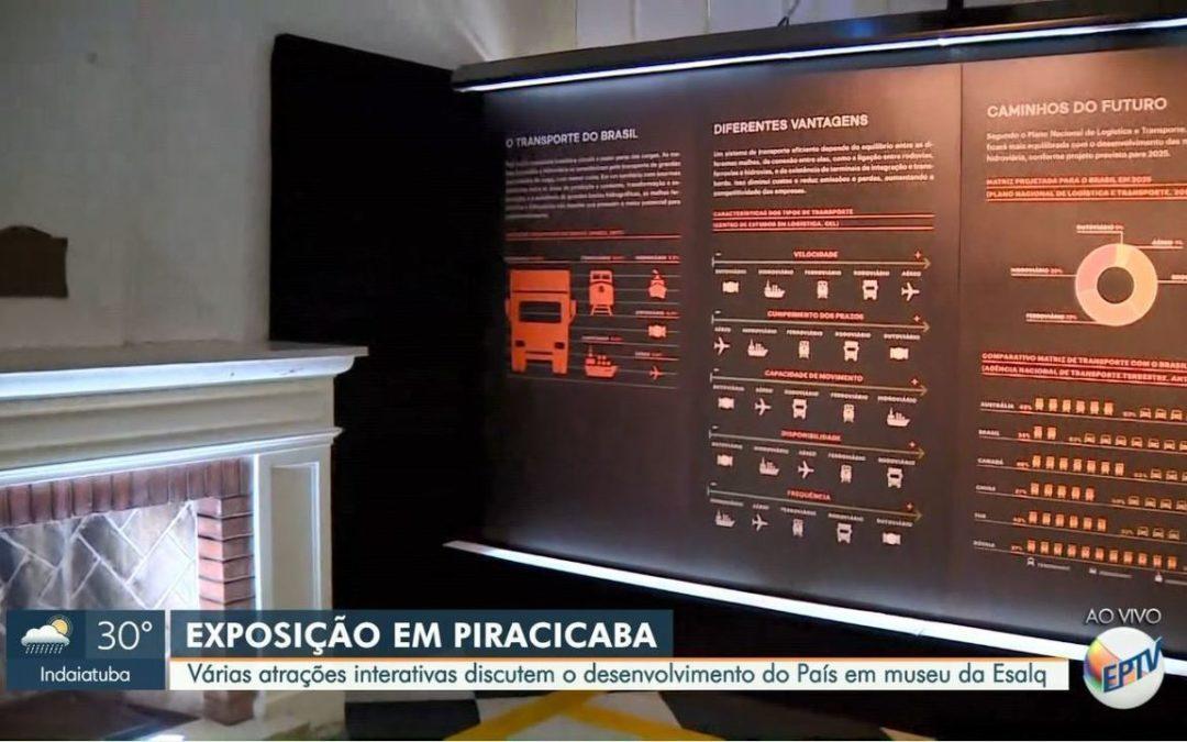 Exposição sobre transporte conta com atrações interativas em Piracicaba